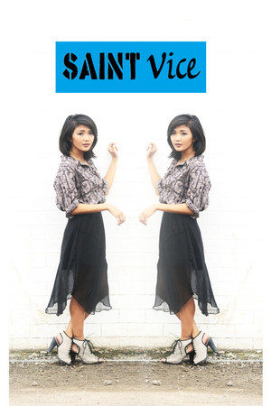 black Saint Vice skirt
