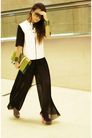 Marni bag - Marni sunglasses - Marni bracelet - Topshop heels - Marni jumper