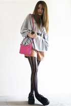 trio sling bag Celine bag - Alexander McQueen belt