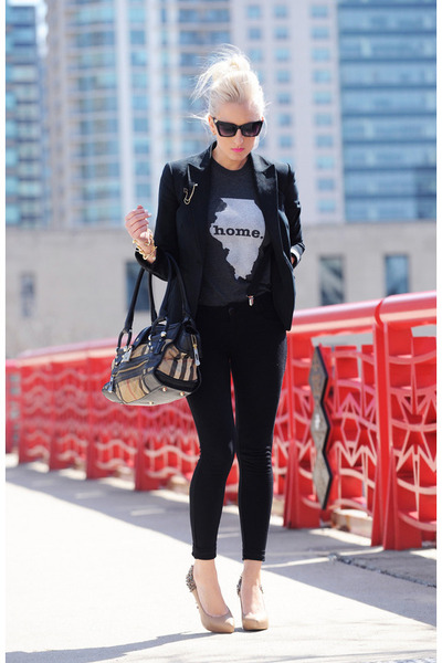 charcoal gray The Home T t-shirt - black jeggings Nordstrom leggings