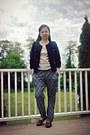 Black-boohoo-shoes-violet-marshalls-top-blue-xhiliration-pants
