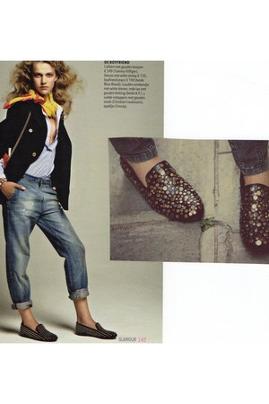 studded Christian Louboutin loafers - studded free people loafers