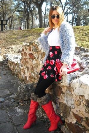 H&M skirt - Madonna boots - elite99 coat - H&M shirt - New Yorker sunglasses