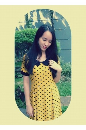yellow Forever 21 dress - online ring