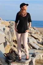 black Zara bag - light pink Stradivarius jeans - light pink Stradivarius scarf