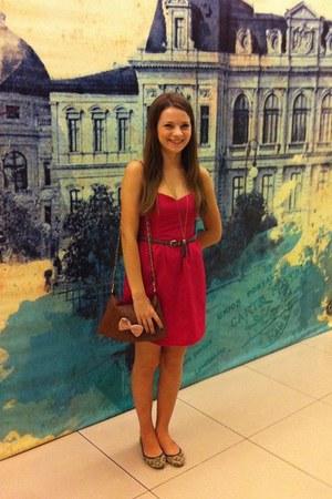 Zara dress - new look shoes - Stradivarius bag - moa belt - Parfois necklace