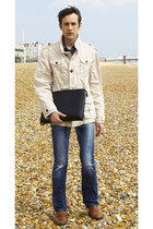 navy energie jeans - burnt orange Josef Seibel shoes - cream Mc Neal jacket