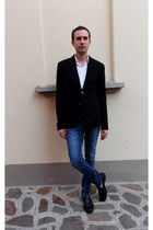 black Zara blazer - navy River Island jeans - white Dolce & Gabbana shirt