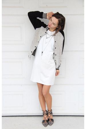 Mango dress - Stradivarius jacket - Zara heels