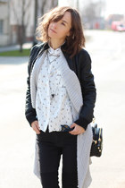 black Springfild jacket - black H&M jeans - white c&a shirt