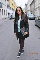 Mango sweatshirt - clockhouse coat - Bershka bag - zeroUV sunglasses - H&M pants