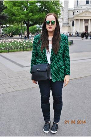 vintage blazer - Primark jeans - H&M shirt - Mango bag - H&M sunglasses