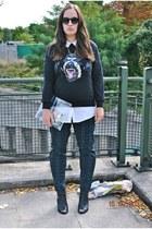 Aliexpress sweatshirt - Primark boots - Bershka bag - zeroUV sunglasses