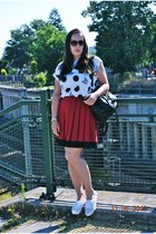 H&M sunglasses - Primark shirt - DIY bag - vintage necklace - vintage skirt