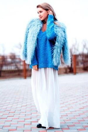 sky blue Zara sweater
