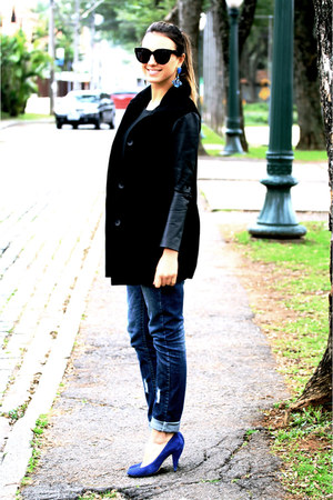 black audrey black Celine glasses - black Ivana Cornelsen coat
