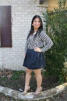 nude Aldo shoes - navy Urban Outfitters top - off white Urban Outfitters top