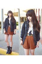 black vintage levis jacket - black Alexander Wang boots