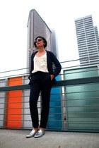 Aritzia blazer - Aritzia pants - blouse - Club Monaco blouse - loafers