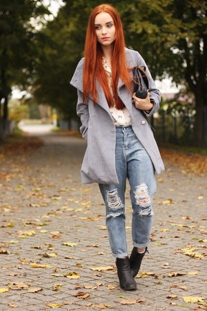 heather gray grey milanoo coat