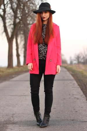hot pink pink boyfriend OASAP coat
