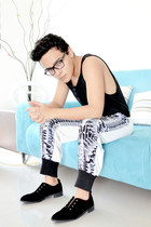 Nasty Gal shoes - choiescom pants - Bershka top