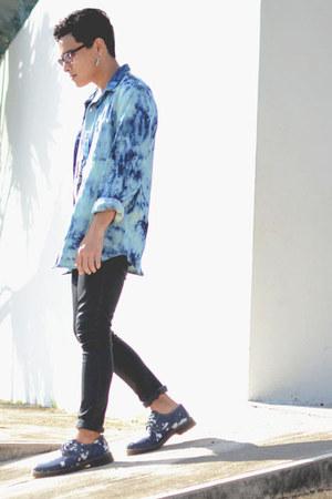 bleached denim asos shoes - Zara jeans - bleached denim asos jacket