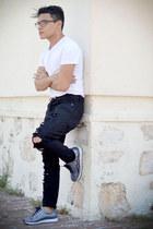 Zara jeans - Zara shirt - Jeffrey Campbell sneakers