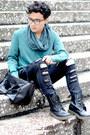 Dr-martens-boots-zara-jeans-vince-shirt-bershka-scarf-forever-21-bag