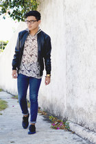 SoleStruck shoes - pull&bear jeans - River Island jacket - RAP shirt