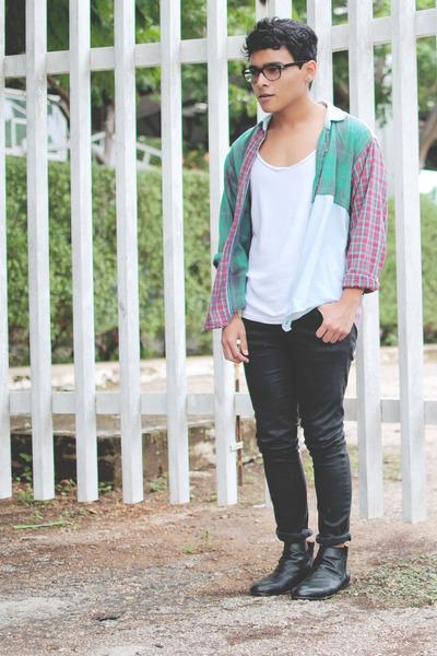 Zara t-shirt - ankle boots Zara boots - Zara jeans