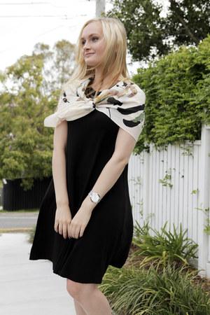 black asos dress - ivory Andéol scarf