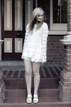 white sabo skirt shorts - white Blonde top