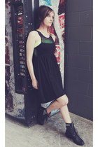 silver Roc boots - black Mombasa dress