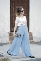 silver Adorne bag - dark brown Dotti sunglasses - black flatforms Wittner wedges