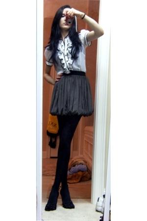 f21 blouse - f21 skirt
