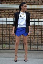 Celine t-shirt - H & M blazer - Zara shorts