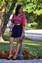 Zara shirt - skater Forever 21 skirt