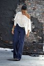 White-crochet-shirt-blue-highwaisted-h-m-pants