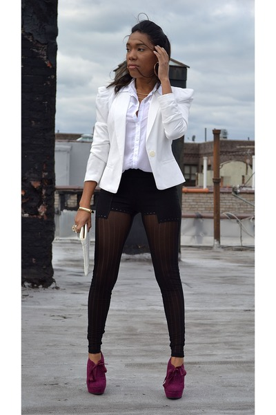 blazer - leggings - pumps