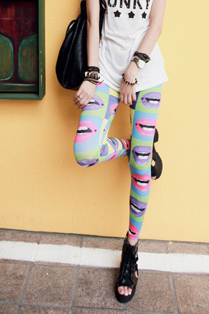 chartreuse lips leggings Jamy leggings
