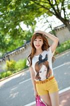 white tshirt JAMYBongjashop t-shirt