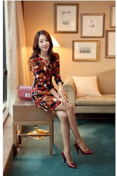 brick red dress JAMYStyleonme dress