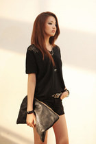 black t shirt JAMYStyle by shez t-shirt - black pants JAMYStyle by shez pants