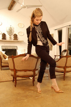 Nina Ricci jacket - Joie pants - J Crew t-shirt - Urban Outfitters accessories -