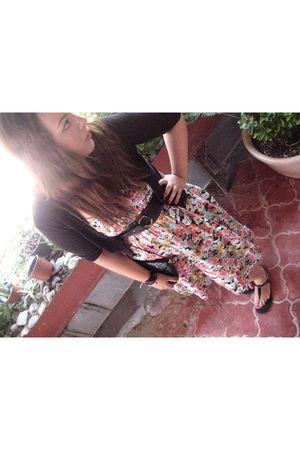 black capa de ozono shoes - pink H&M dress