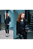black Choies pants - black maison martin margiela wedges