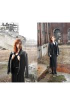 filip roth jacket - vintage dress - Nelly wedges - Zara top