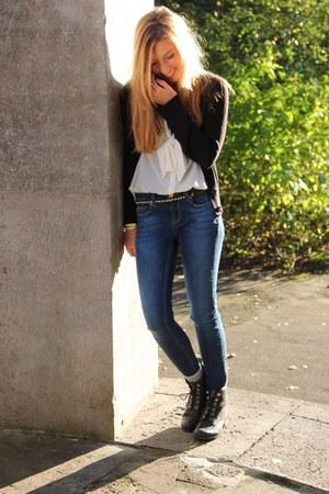 GINA TRICOT jacket - H&M blouse