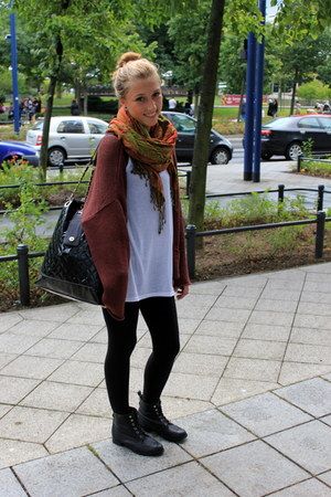 H&M leggings - Primark bag - H&M cardigan - H&M top